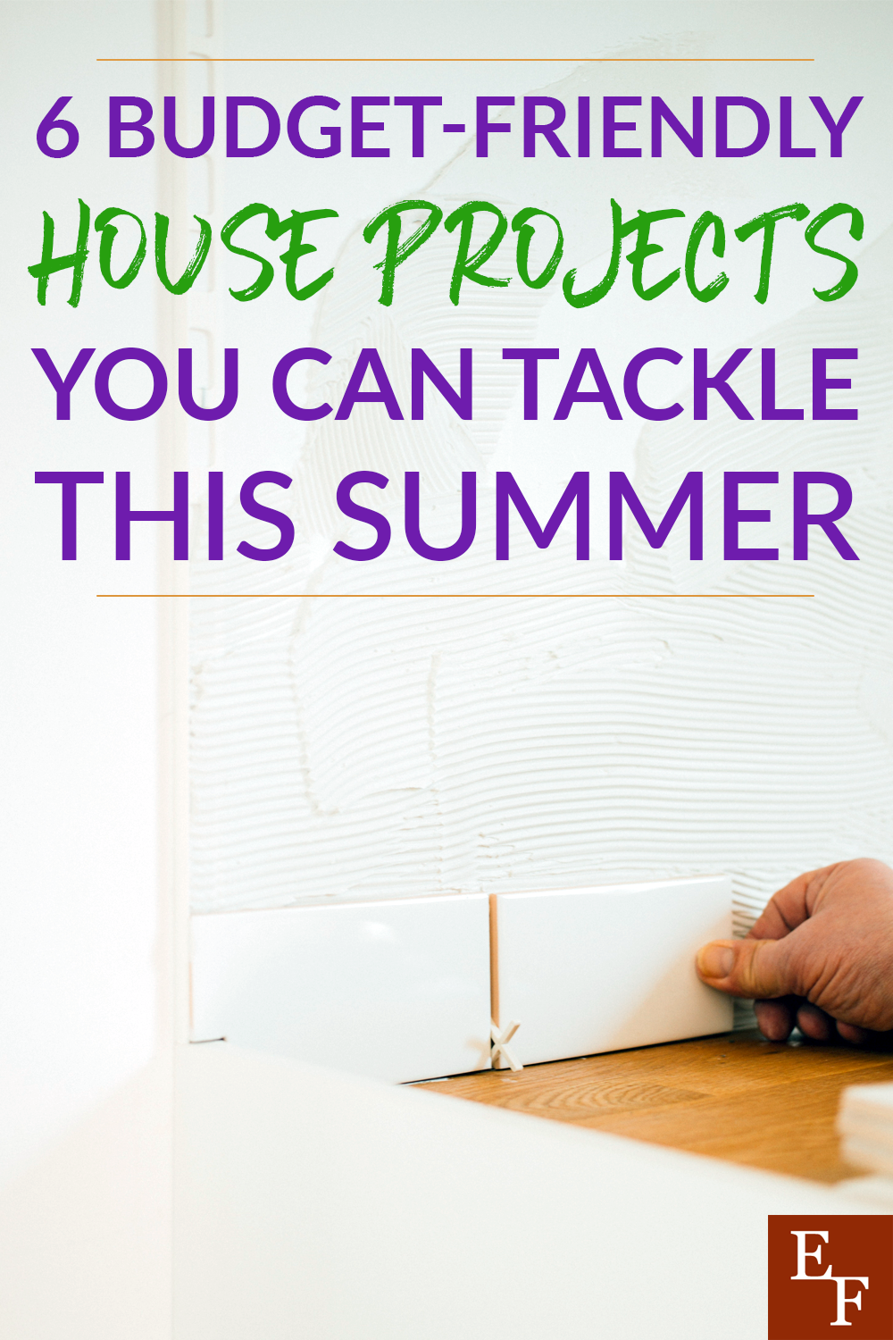 Summer is a time to not only do some cleaning, but also try and tackle some budget friendly house projects. Here is what we're doing!