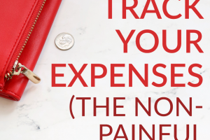 One of the first steps to help get your finances in order is deciding to track your expenses. It's easy to get started and can be done in a non-painful way.