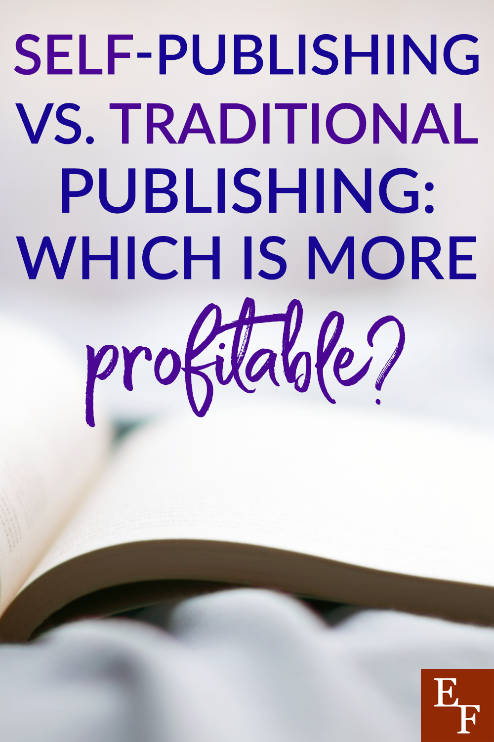 If you are thinking about publishing a book, determining how to publish it is a BIG decision. So, is self-publishing or traditional more profitable?