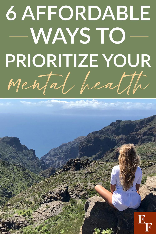 Leve sua saúde mental mais a sério. Não adie porque você acha que não pode se dar ao luxo de lidar com isso. Aqui estão algumas maneiras pelas quais você pode priorizar sua saúde mental.