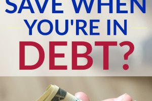 You may not think that being in debt and saving can go together. They actually can though, and we answer how it's possible to save when you're in debt.